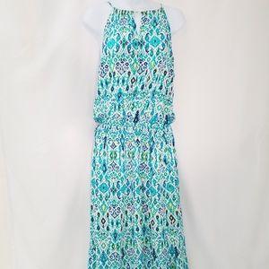 Tommy Bahama~Green Maxi Dress Large